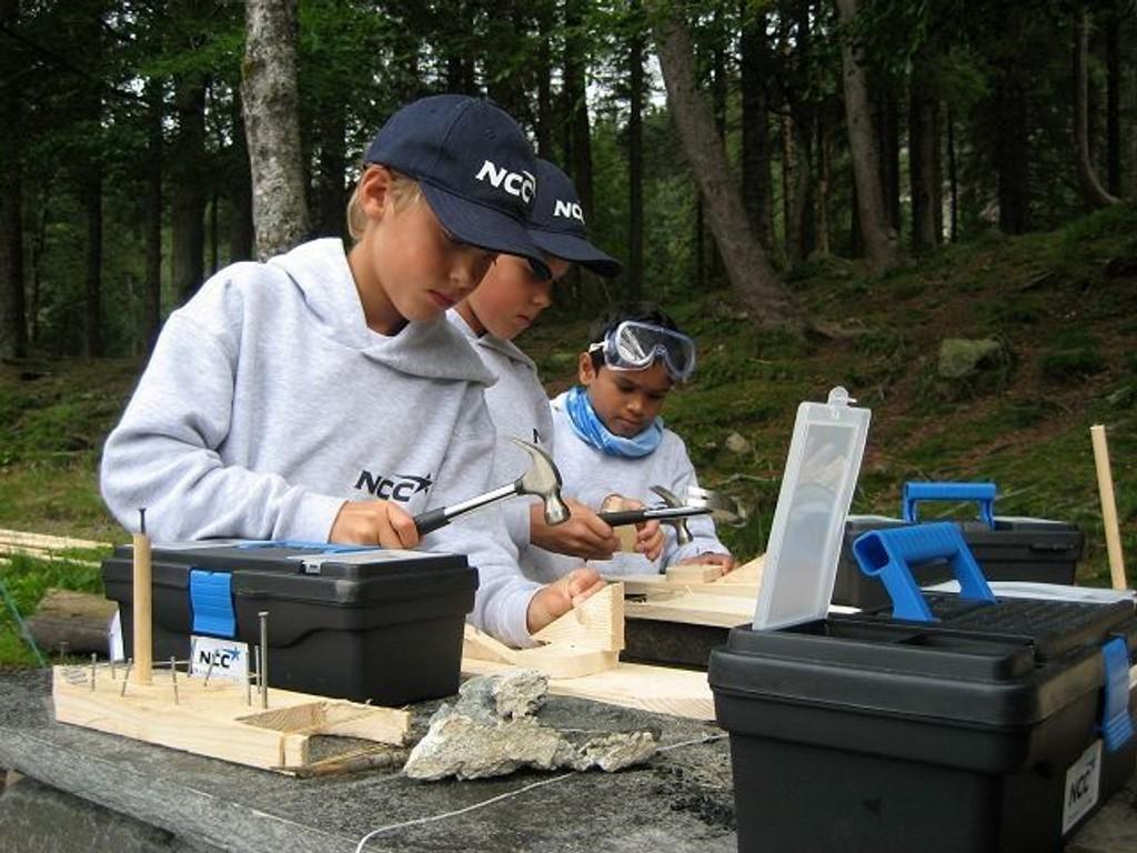Østensjøbarn skal neste uke lære byggteknikk og realfag i praksis. Foto: NCC