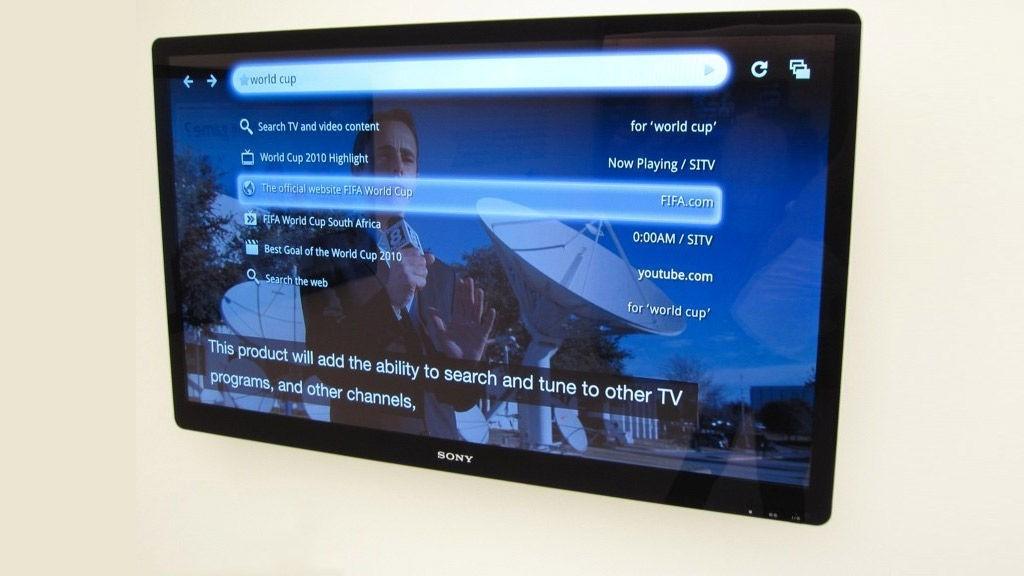 Slik vil Googles menyer se ut på Sonys TV-modeller.