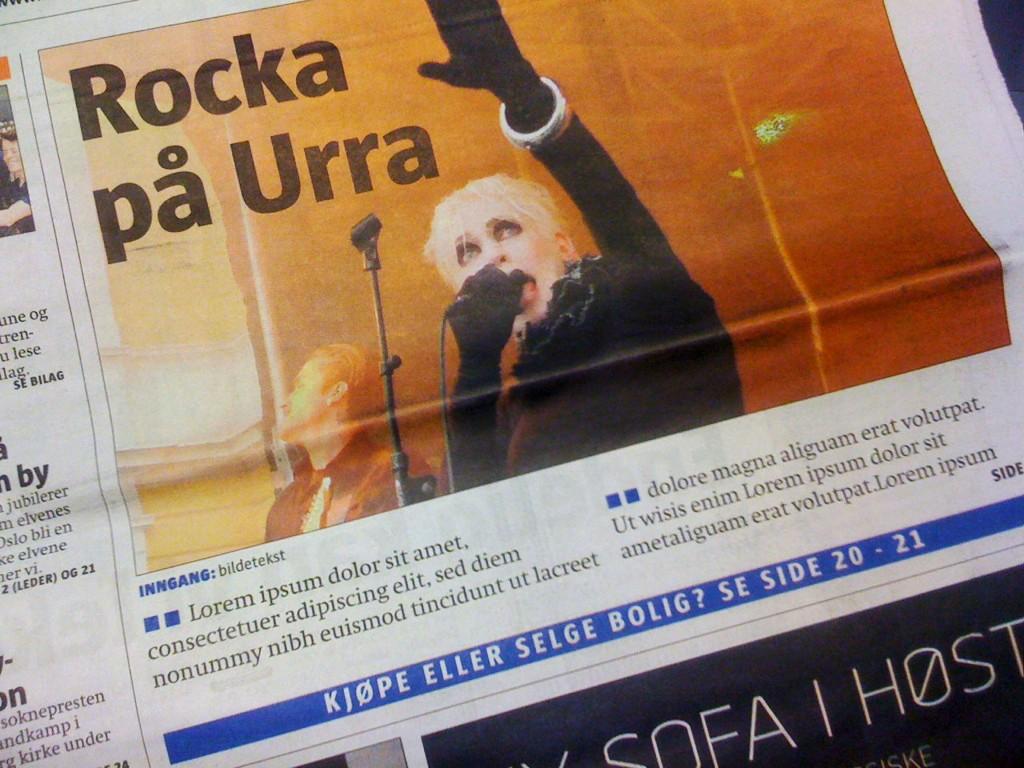 Lorem ipsum dolor sit... står det på forsiden av gårsdagens Lokalavisen Frogner.