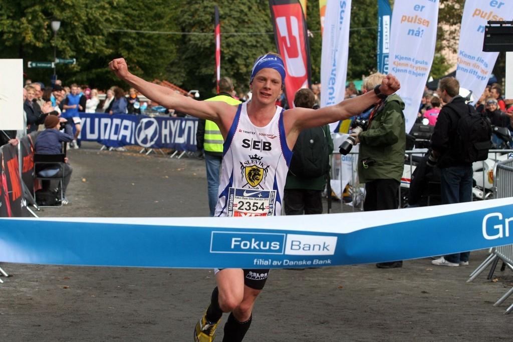 Andreas Høye klinte til og vant Oslo Maraton i sitt aller første forsøk.