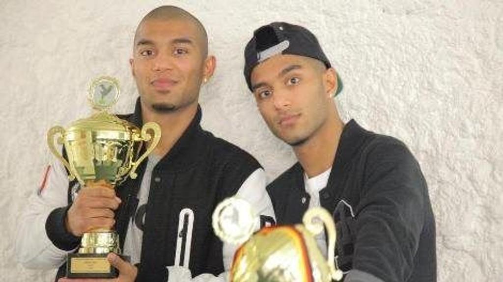 Suleman og Bilal Malik (20), verdensmestere i hip hop.
