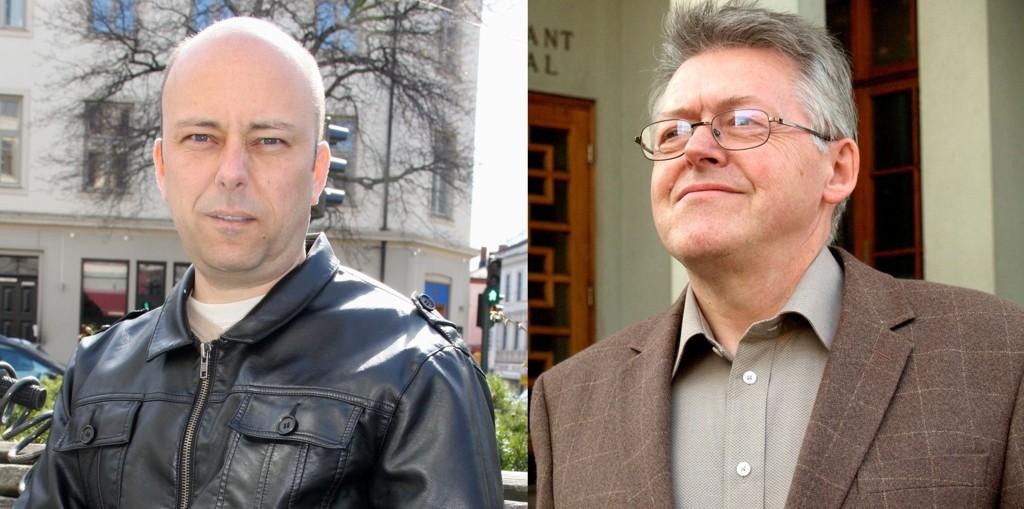 Helge Stoltenberg (t.v.) og Per Overrein (begge Ap) frykter dramatiske kutt på Sagene om byrådets forslag til budsjett for 2011 blir vedtatt.