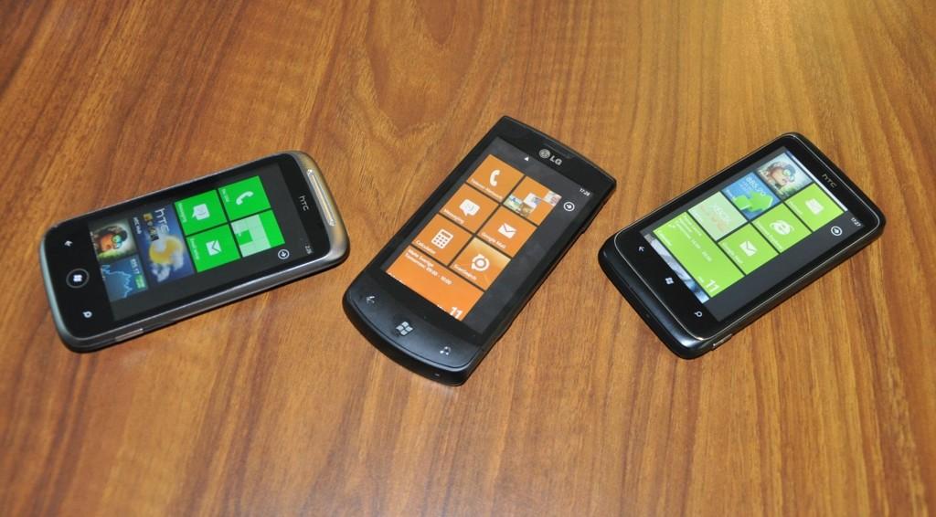 LG Optimus 7, HTC Trophy og HTC Mozart er de første mobilene med operativsystemet Windows Phone 7 som kommer til Norge.