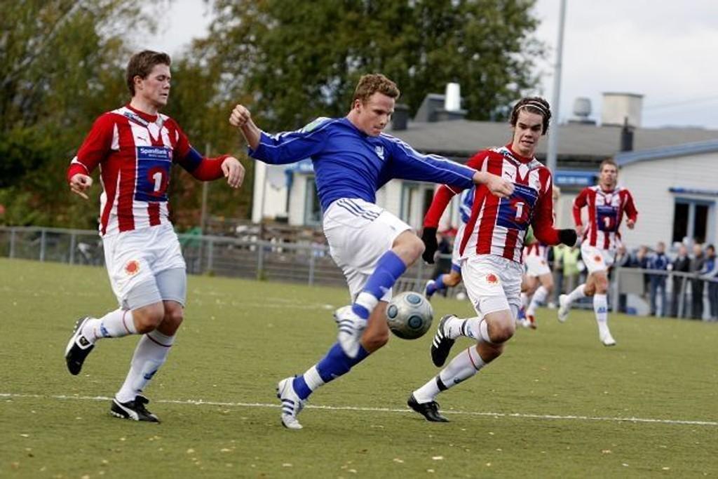 Simen Møller (22) har imponert mange denne sesongen med sine 15 scoringer i serien. Her i kamp mot Tromsø 2 forrige sesong.