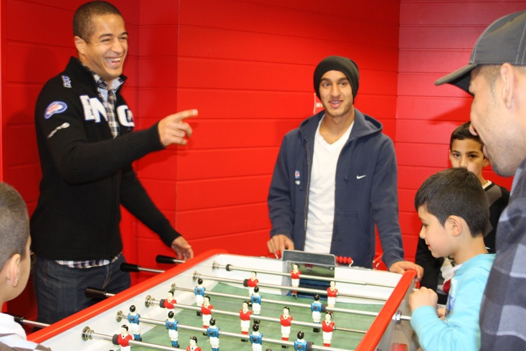 Andreas Nordvik og Mohammed Fellah viste at de også kan andre ting enn å spille fotball.