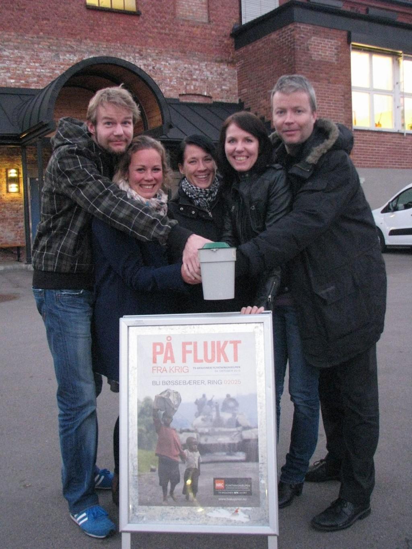 Fra venstre Erik Audensen (Grünerløkka), Kjersti Eggen (Gamlebyen/Grønland), Christine Andersen (Torshov), Cecilie Flem (Sinsen) og Jo Heinum (Bjølsen).