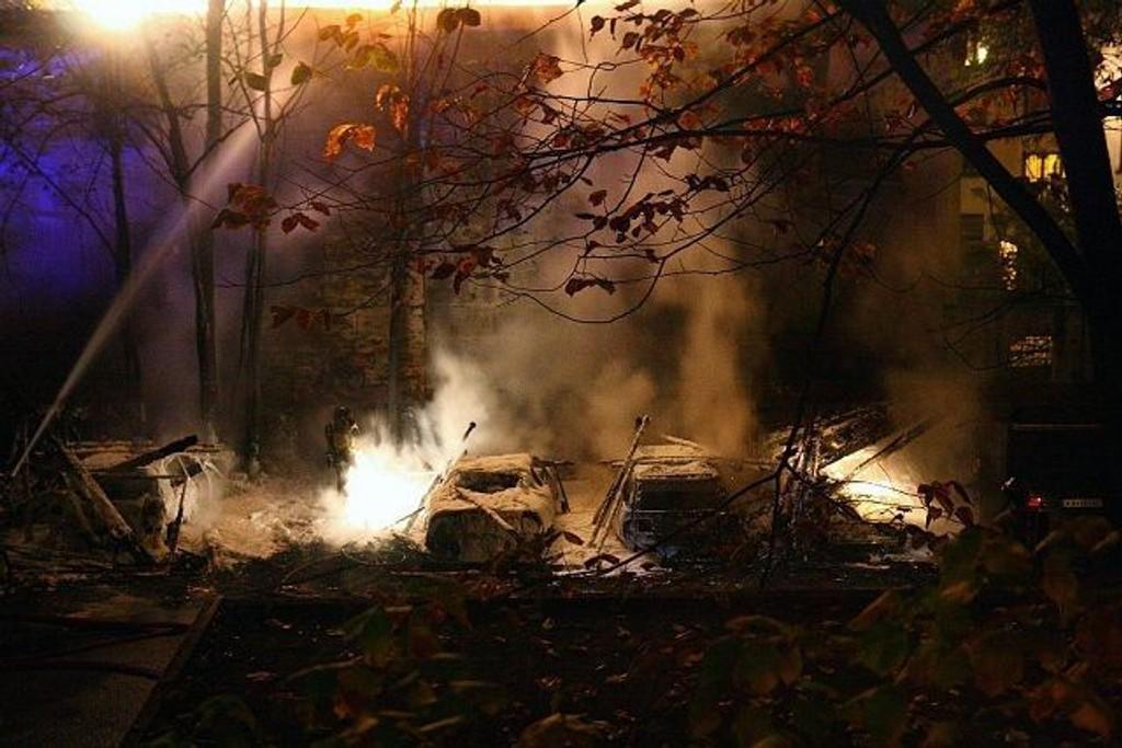 Fem biler ble skadet i brannen på Majorstuen natt til torsdag.