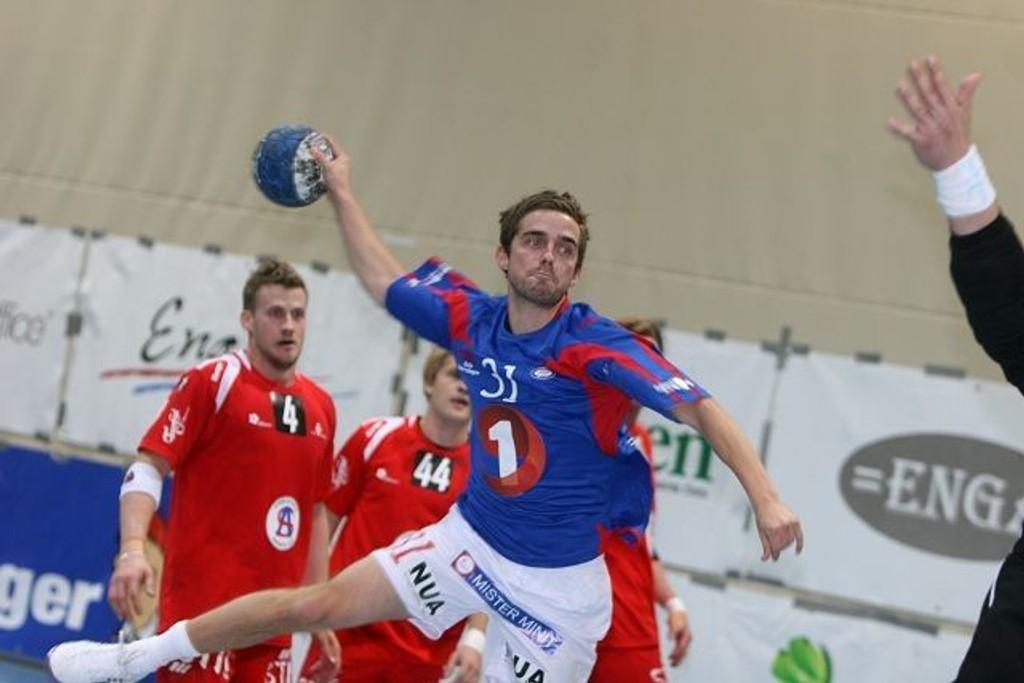 Debutanten Martin Haagensen scoret tre mål for VIF mot Follo HK.