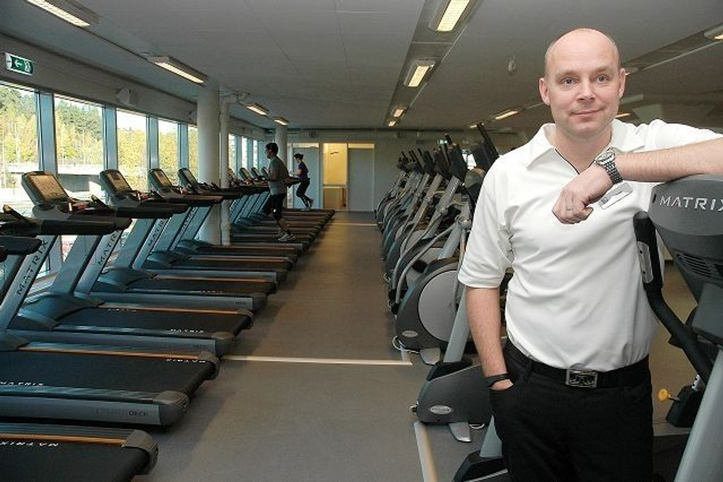 Daglig leder i Fitnessconcept, Henrik Nilsen er fornøyd med å være i gang på Linderud.