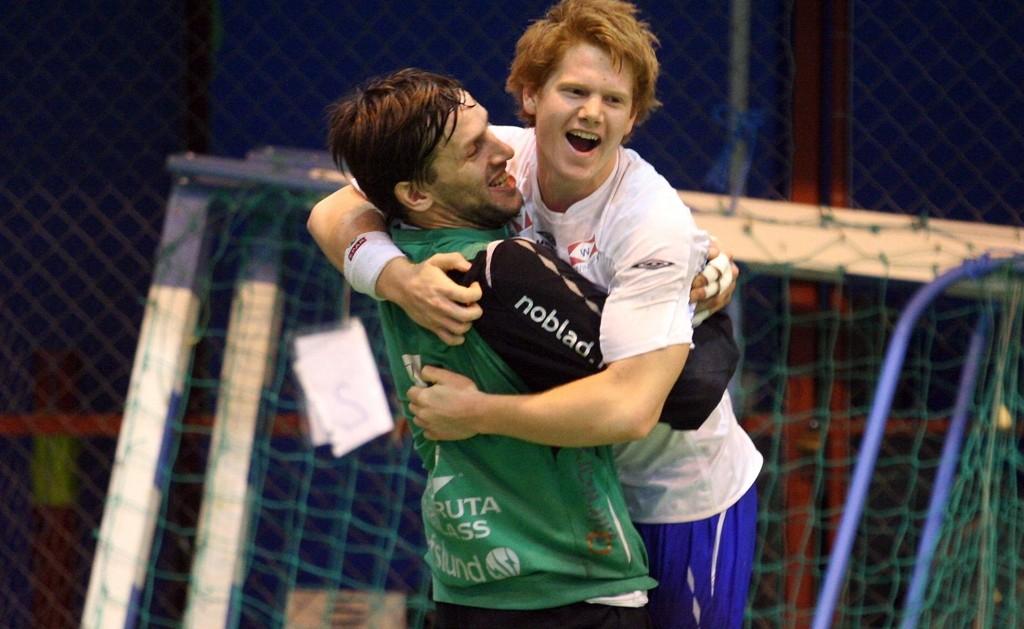 Målvakt Emil Jungman og Anders Tverdal storspilte mot Runar lørdag.