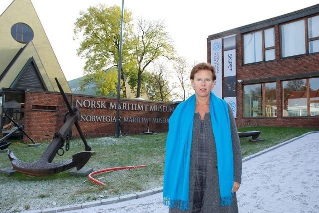 HÅPER: Camilla Wilhelmsen (FrP) håper at Stortinget kommer på banen og redder NMM, og at staten heretter er seg sitt ansvar bevisst, også overfor den maritime kulturarven. Foto: Anne Marie Huck Quaye