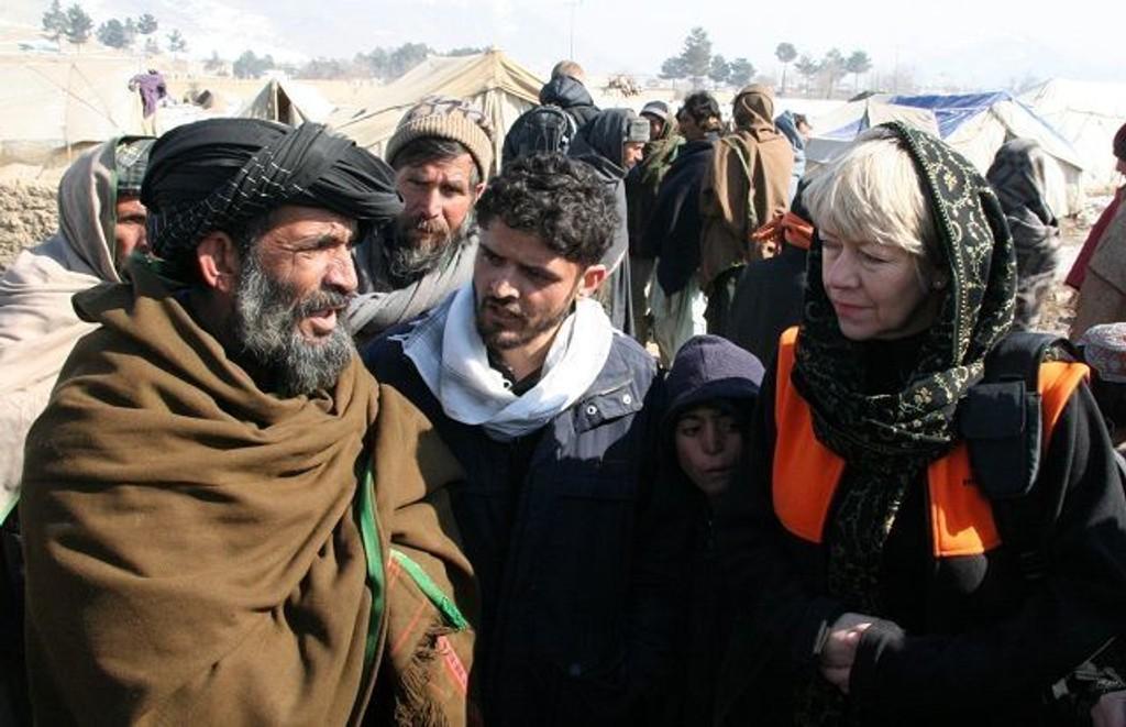 Generalsekretær i Flyktninghjelpen, Elisabeth Rasmusson, er bosatt på Nordstrand. Her er hun avfotografert i Afghanistan.
