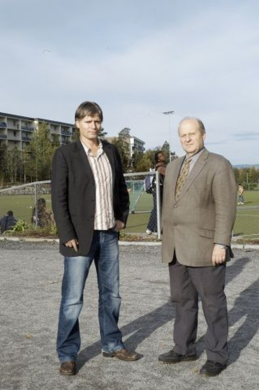 Ola Elvestuen (t.v.) og Odd Einar Dørum er henholdsvis toppkandidat og ordførerkandidat for Venstre.