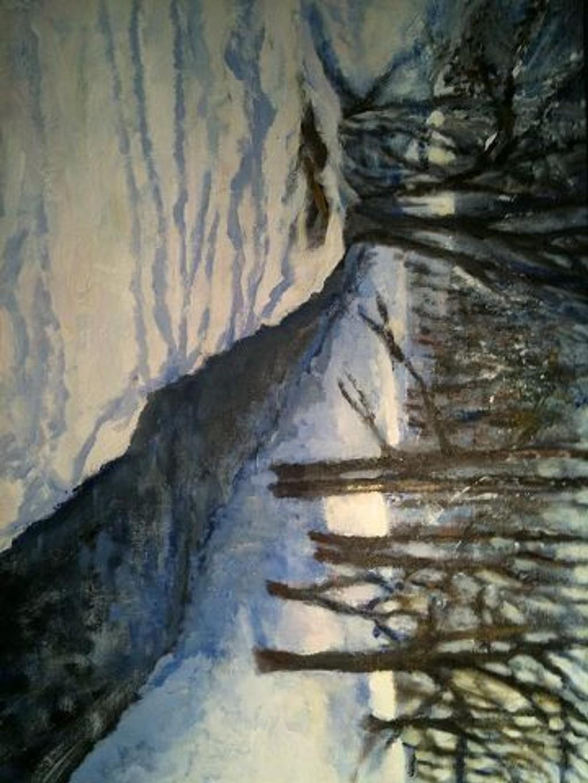 Bølerbekken i vinterlys, av Steinar Husby, er et av bildene som nå skal pryde Oppsal bibliotek.