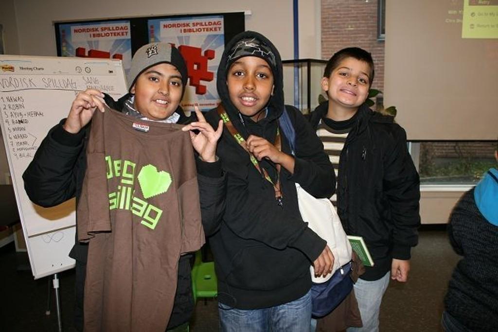 Ibrar (12), Hanad (12) og Nawas (11) fikk flest poeng i sangkonkurransen. De er helt enige om at dette var kjempegøy!