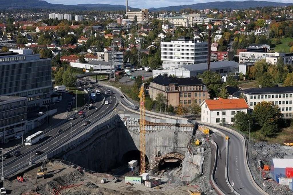 Økernområde t er attraktivt, nå vil byrådet bygge ut i stor stil. Her fra sprengning av Løren-tunnelsen.