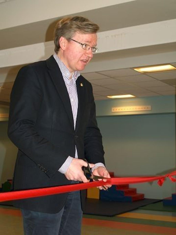 Byråd Torger Ødegaard erklærte Tinker'n Kanvas-barnehage offisielt for åpnet sist torsdag.