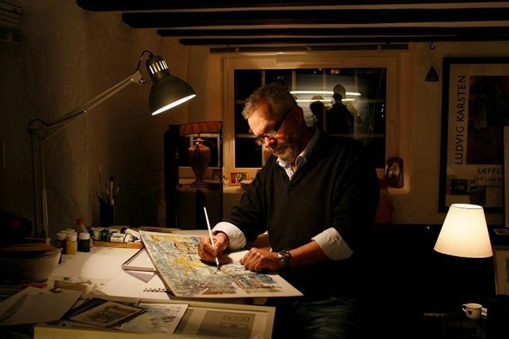 Arne Egede Hansen har de siste årene malt motiver fra nærmiljøet på Nordstrand, noen av disse maleriene blir nå samlet i en kalender.