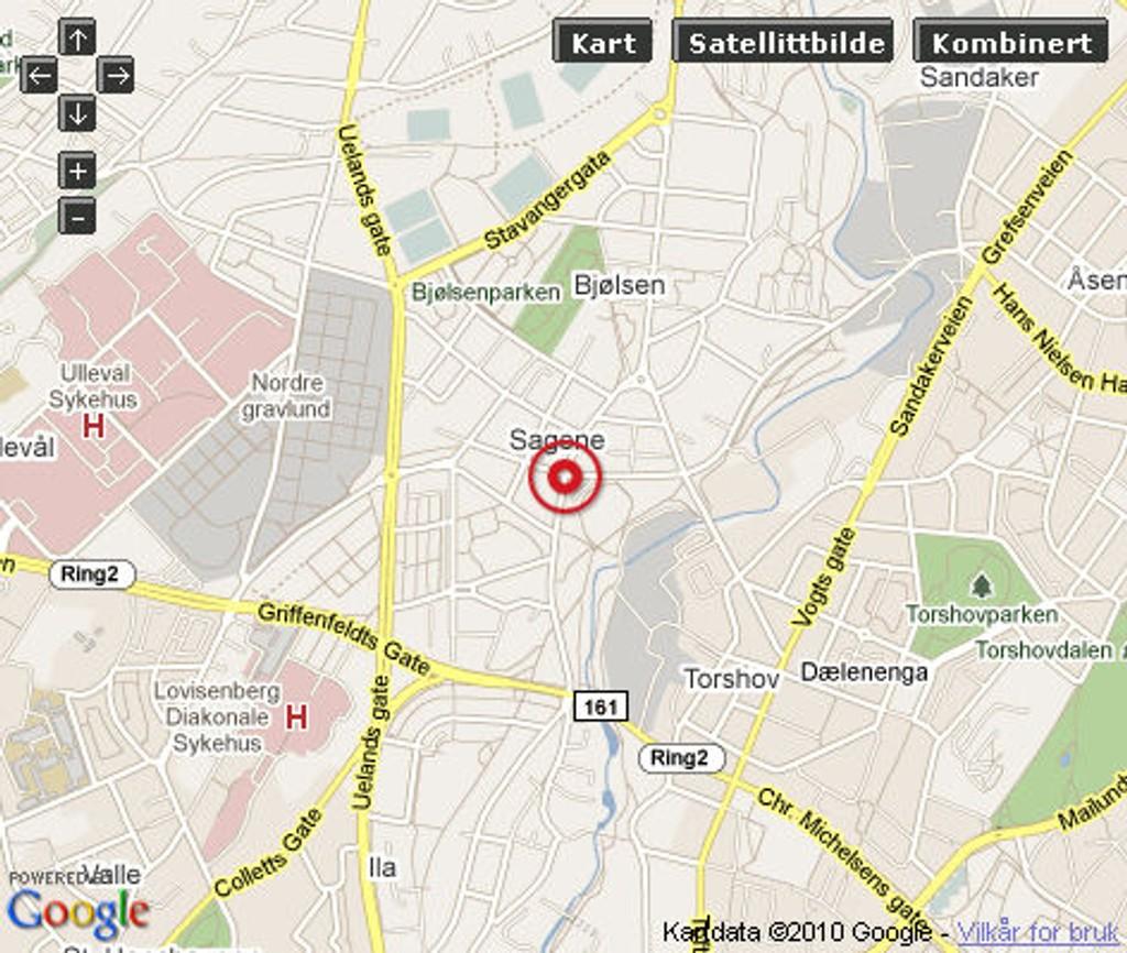 I krysset Maridalsveien-Arendalsgata ligger Bunnpris-butikken som ble ranet like etter klokken 9 i morges.