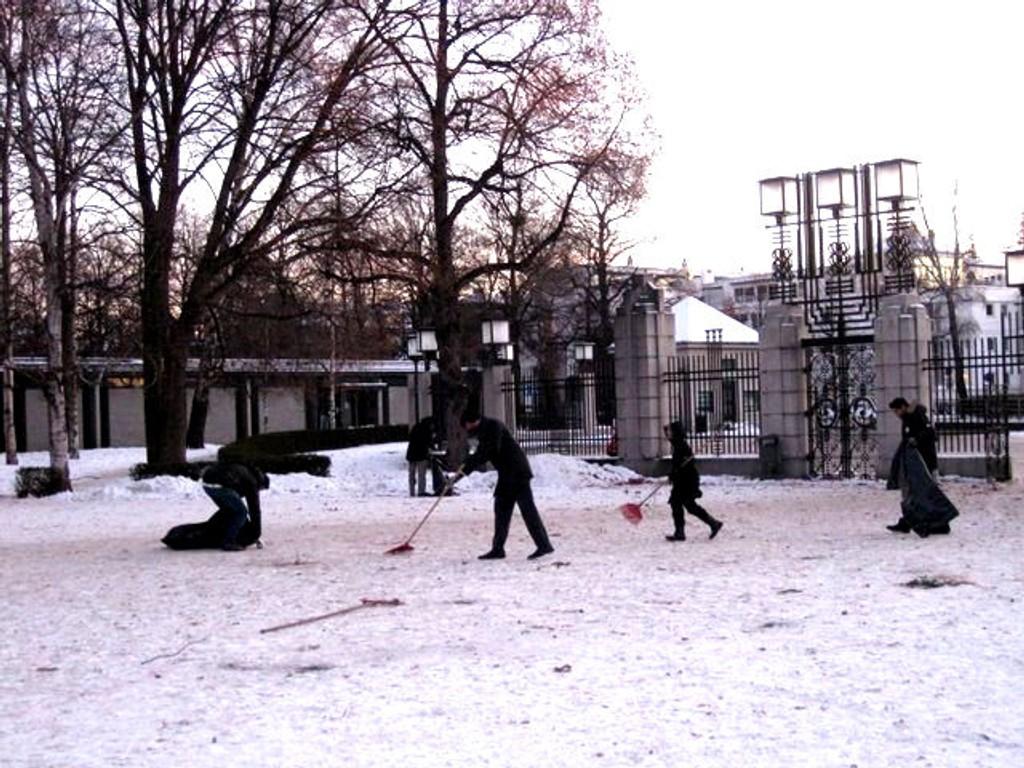 Frognerparken ble gjort fin til turister og andre første nyttårsdag.