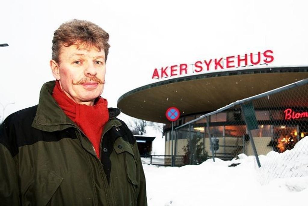 – Vi gir ikke opp kampen mot nedleggelse av Aker Sykehus, sier Lokallagsleder i Fagforbundet, Are Saastad. FOTO. Arkiv