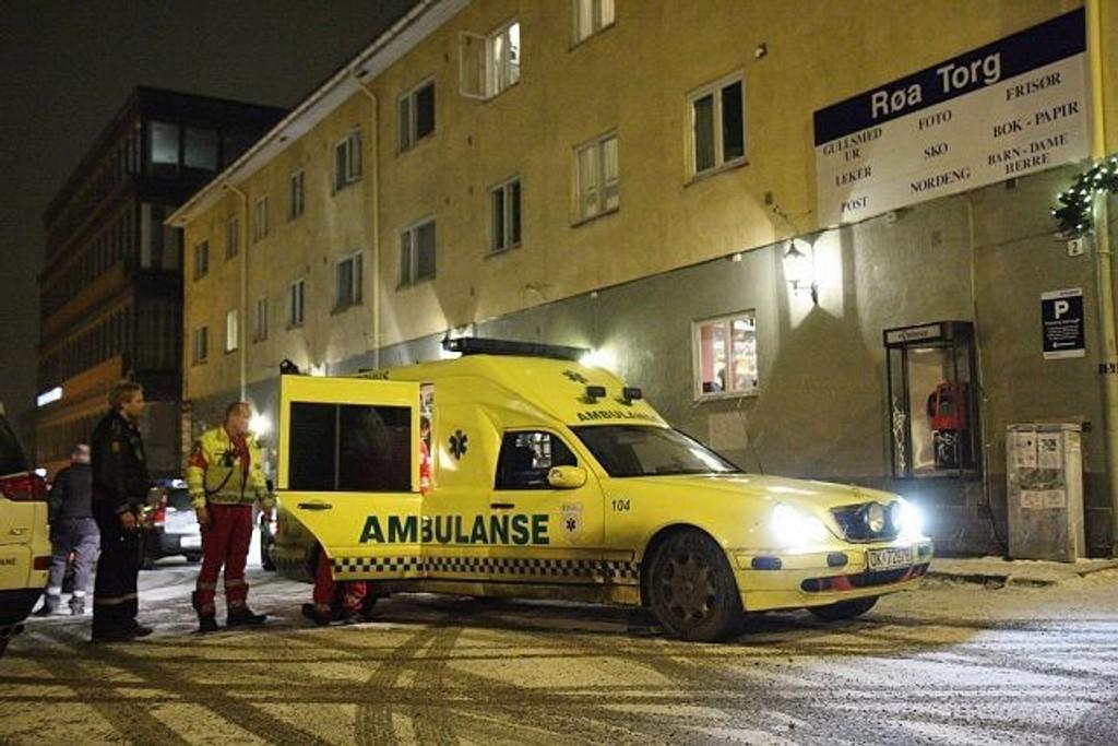 Det var her, ved Røa t-banestasjon, at en mann ble funnet knivstukket i bein og overkropp natt til tirsdag.
