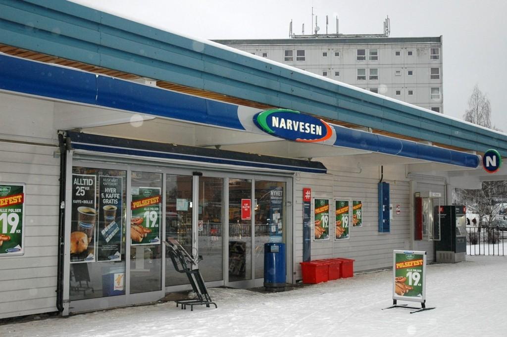Narvesen-kiosken på Bøler t-banestasjon.