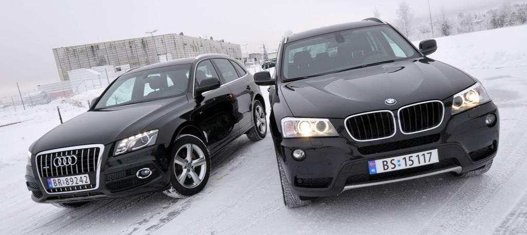 BMW X3 trakk det lengste strået i duell med Audi Q5. Dette er biler som nok mange nordmenn kunne tenkt seg å kjøpe, men som de færreste har økonomi til å gjennomføre.