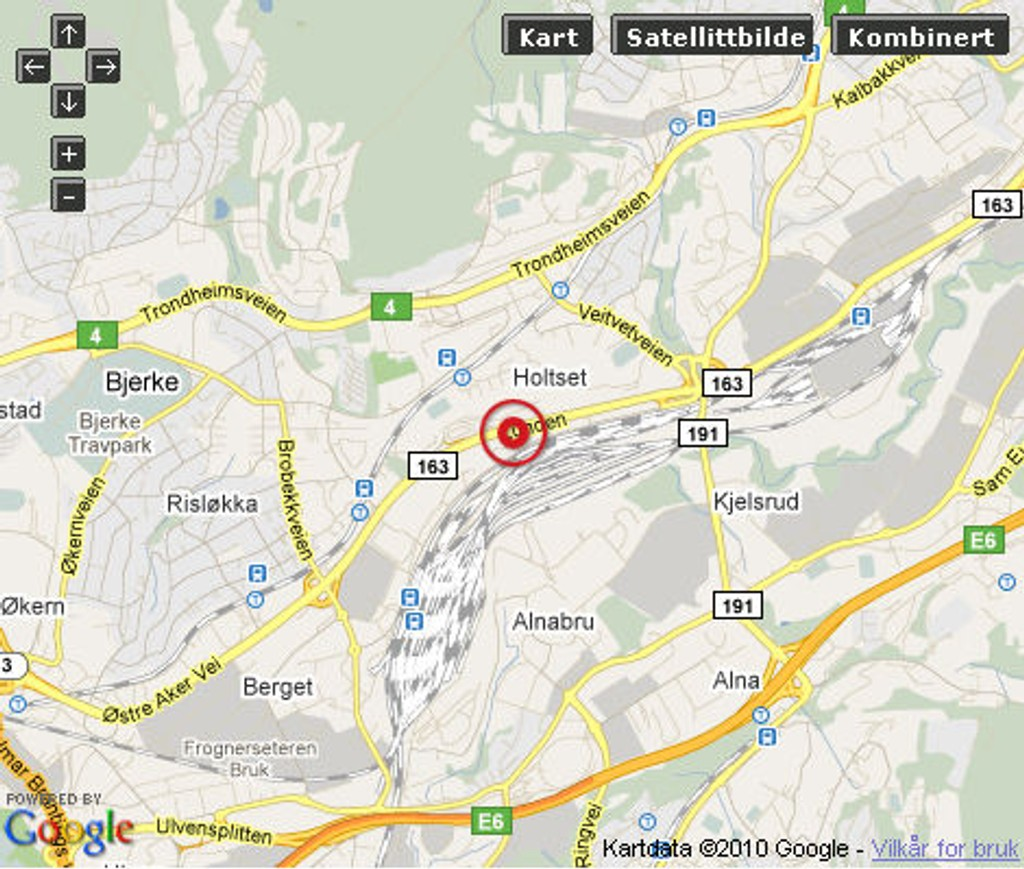 Ulykken skjedde ved Linderud.