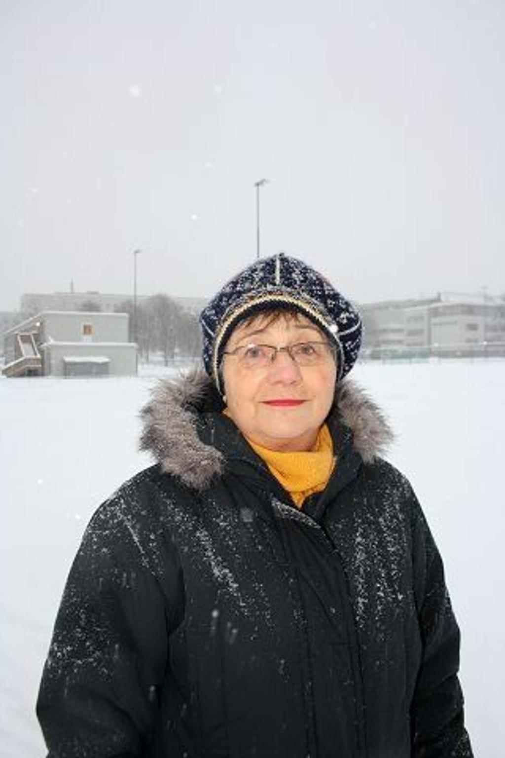 : Annikken Seip mener Idrettsetaten burde ta ansvar for skøytebanen.