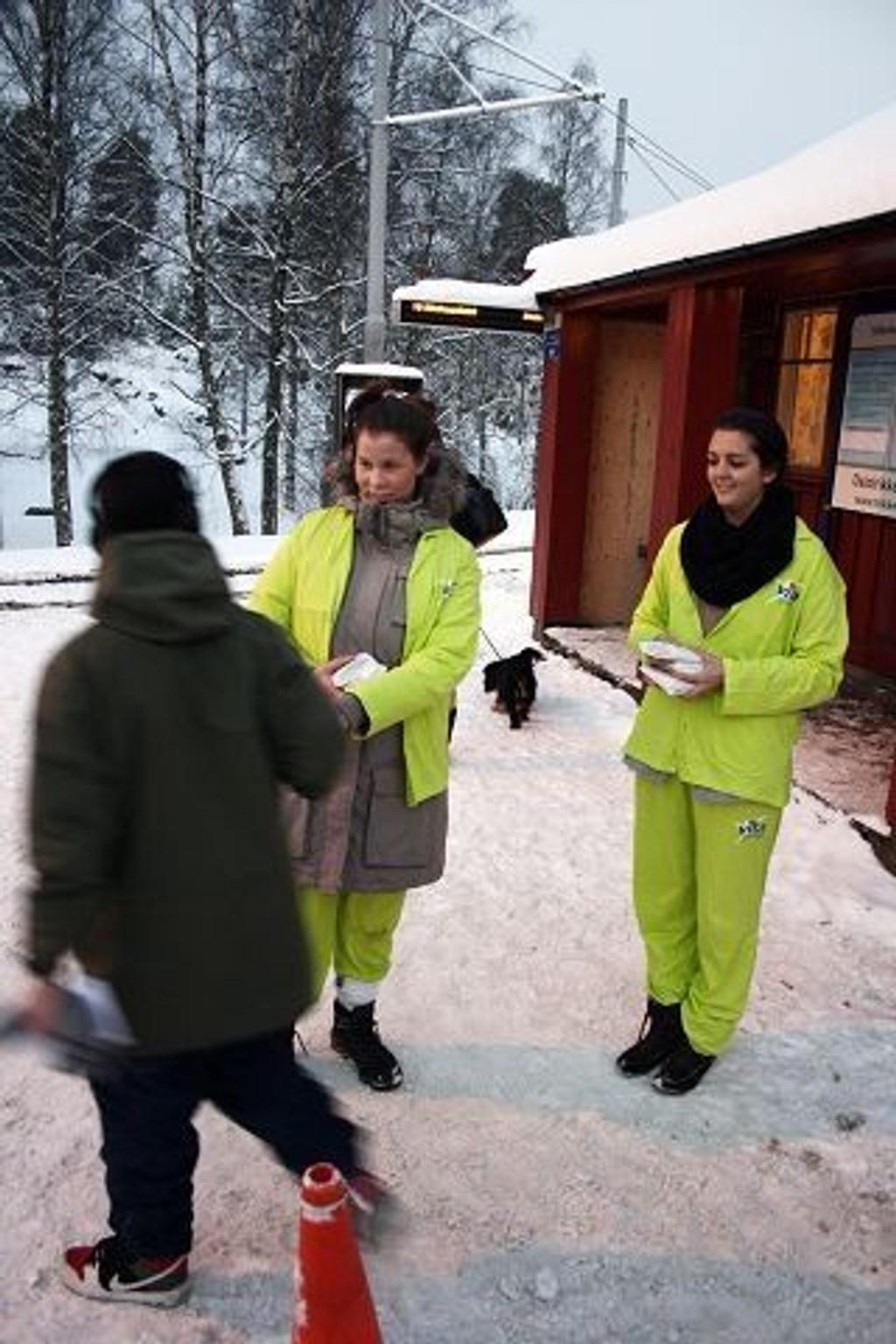 Passasjerer på Ljabrutrikken fikk en hyggelig overraskelse på fredag.