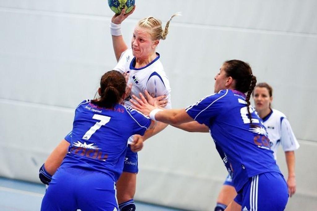Mari Hegna og Njård tapte knepent i Drammen. Her fra en kamp mot Oppsal tidligere denne sesongen.