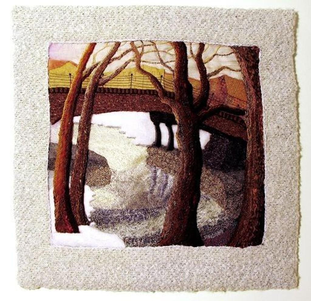 Tekstilkunst med motiver fra Akerselva.