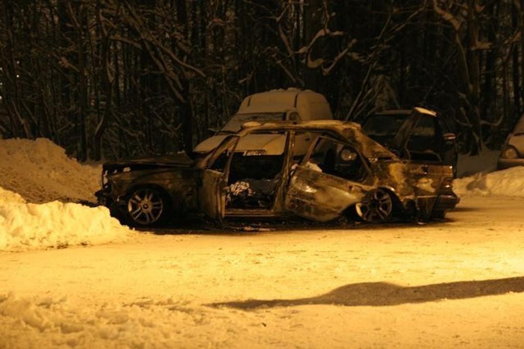 Den utbrente bilen ble funnet i Haugerudveien.