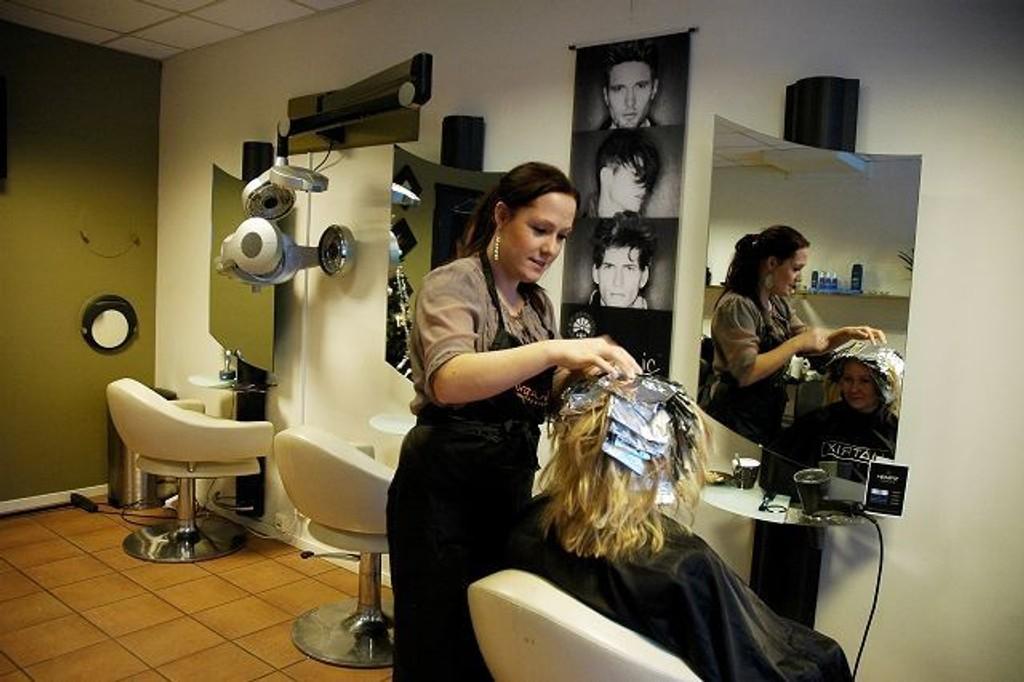 Jenny Fjærgård på jobb
