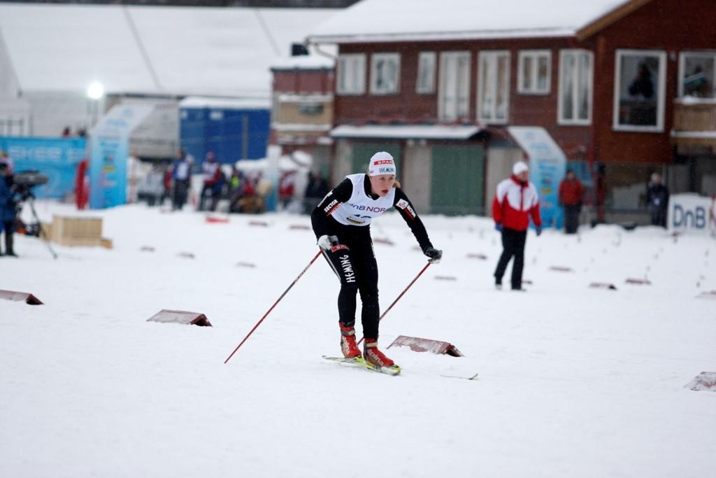 Ragnhild Haga (19) fra Heming IL var raskest under dagens fem kilometer fristil i Otepää.