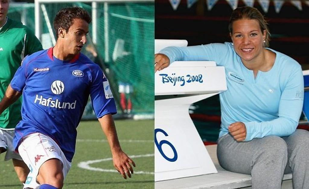 Mohammed Fellah og Sara Nordenstam er to idrettskjendiser med fornavn som er populære i Oslo.