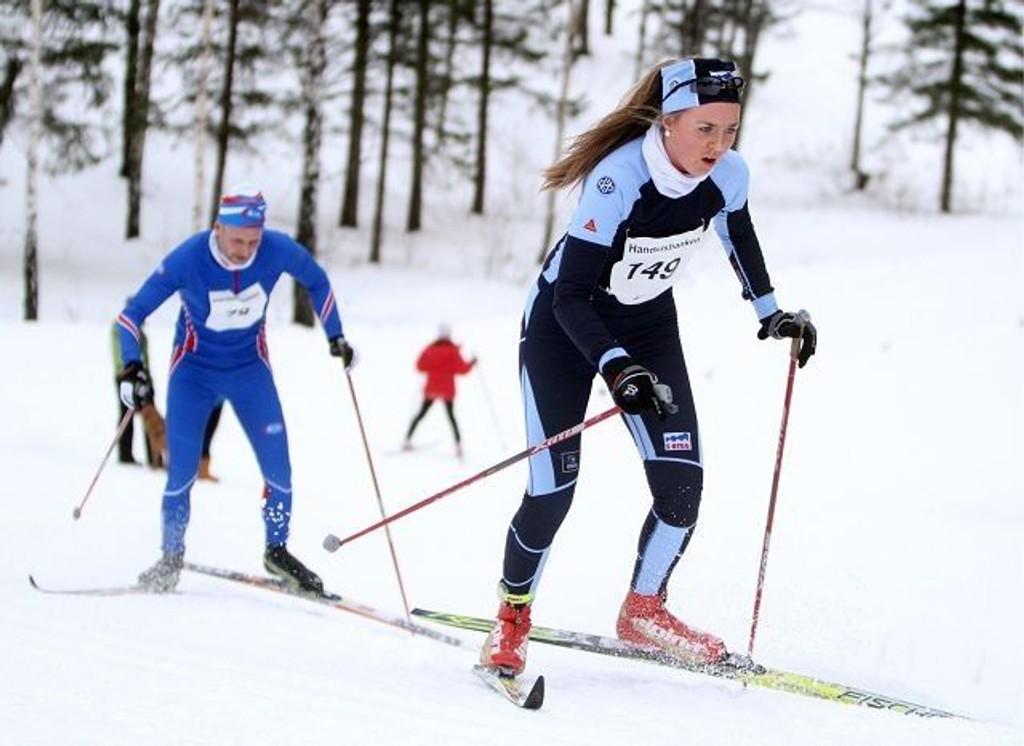 Elise Rivenes Hagen fra Høybråten & Stovner ble nummer seks i klassisk og fem i fristil i KM.