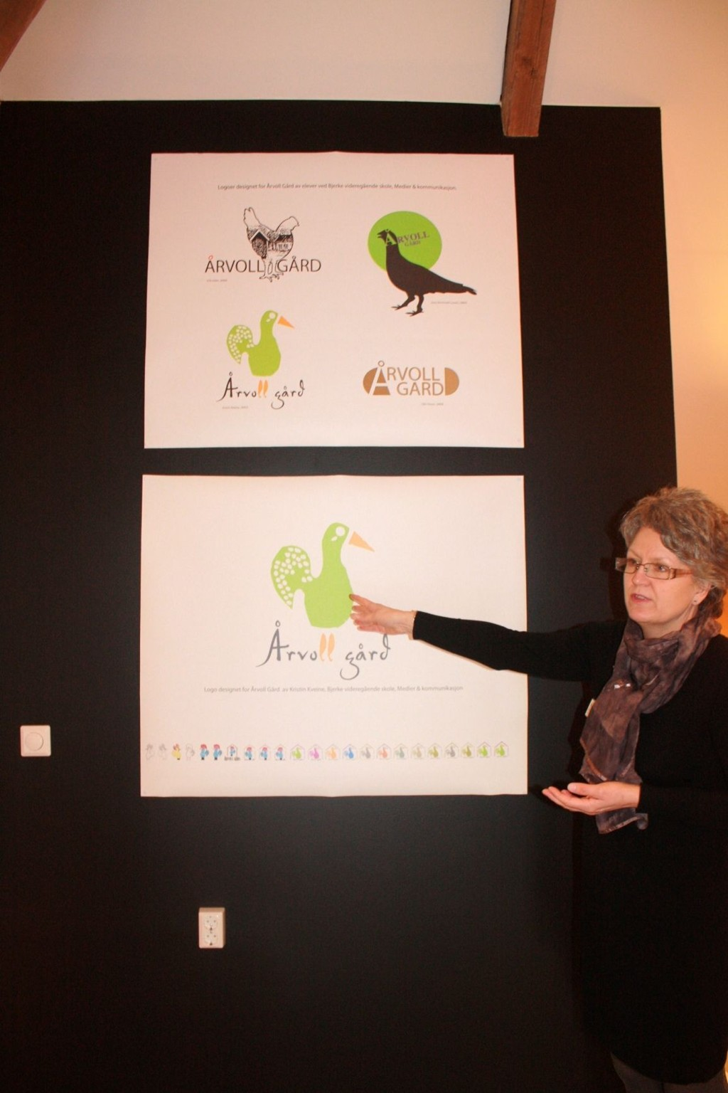 Bestyrer på Årvoll Gård, Linda Elizabeth Gray.