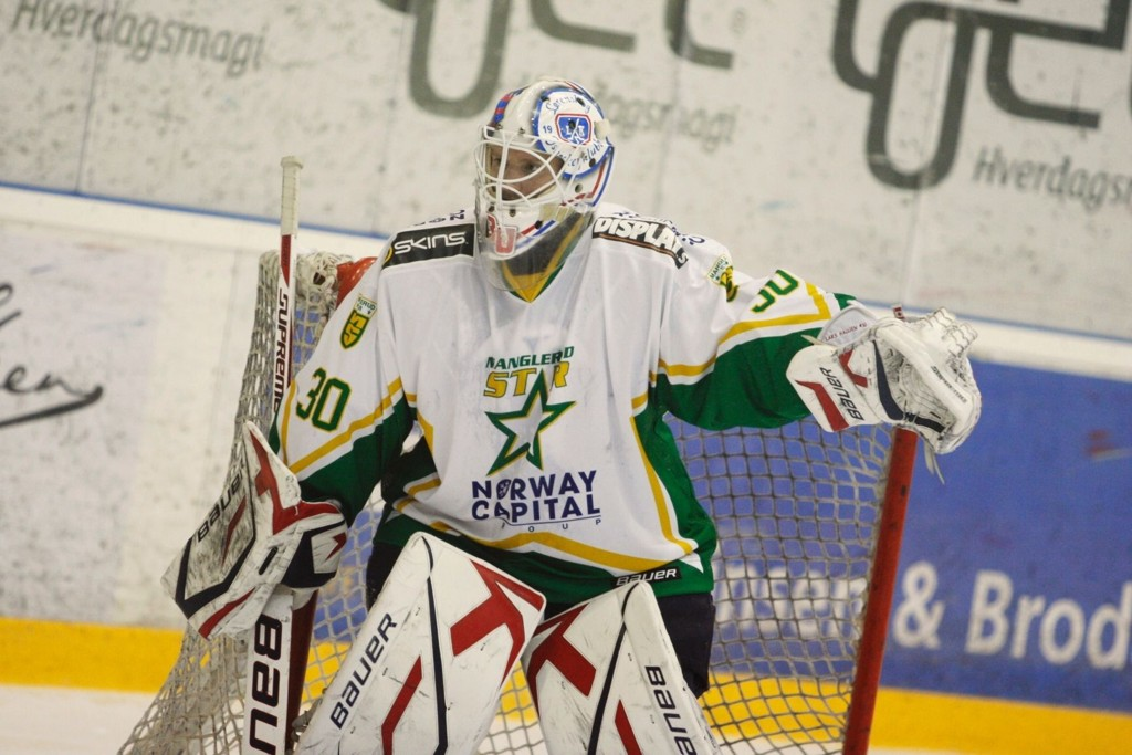 Lars Haugen sto godt mot sin tidligere arbeidsgiver. Legg merke til Lørenskog-logoen på sistskansens maske.