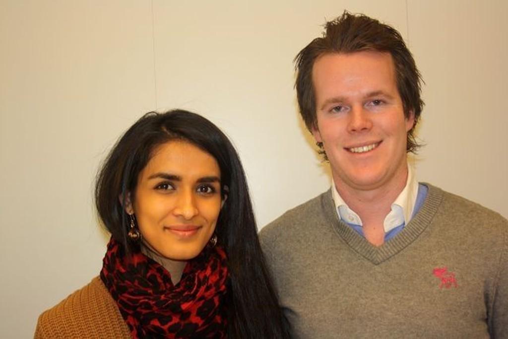 Leder For Oslo Unge Høyre Andreas Strandskog og Saisa Begum håper på positiv respons under helgens årsmøte