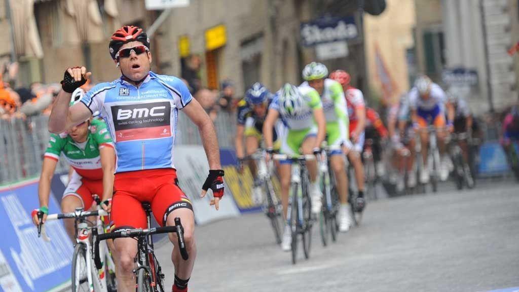 Evans vinner sjette etappe av Tirreno-Adriatico (2011).