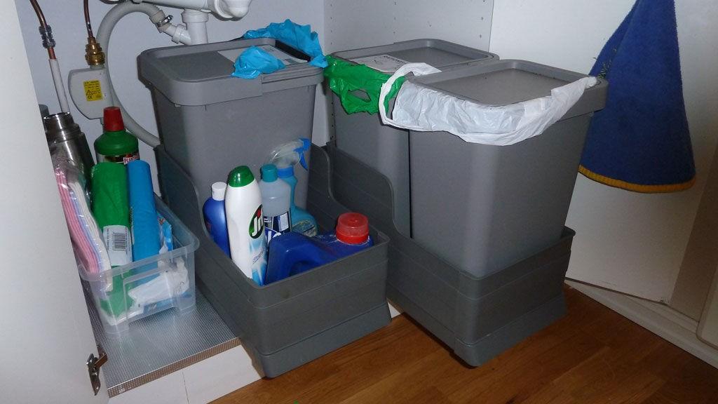 RYDDIG: Dette er en av mange løsninger som er ute på markedet når det gjelder kildesortering i hjemmet.