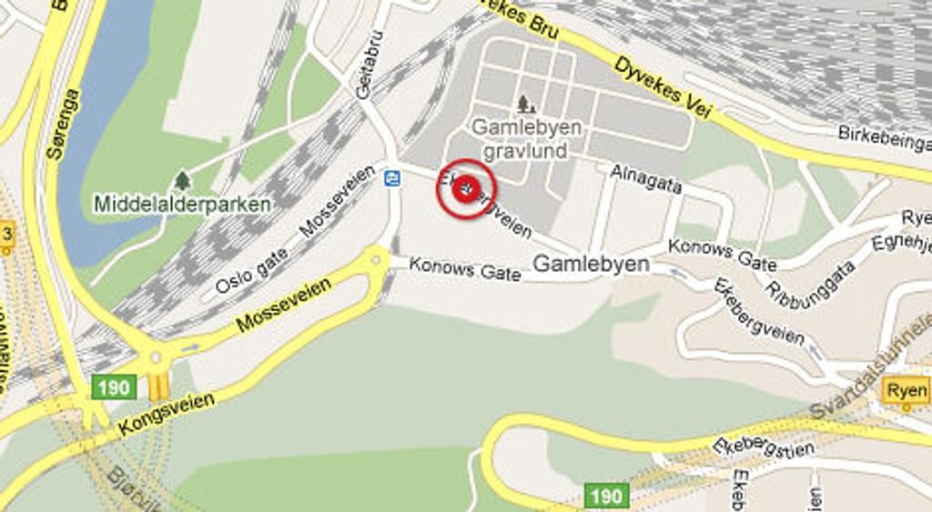 Påkjørselen skjedde i Ekebergveien i Gamlebyen.