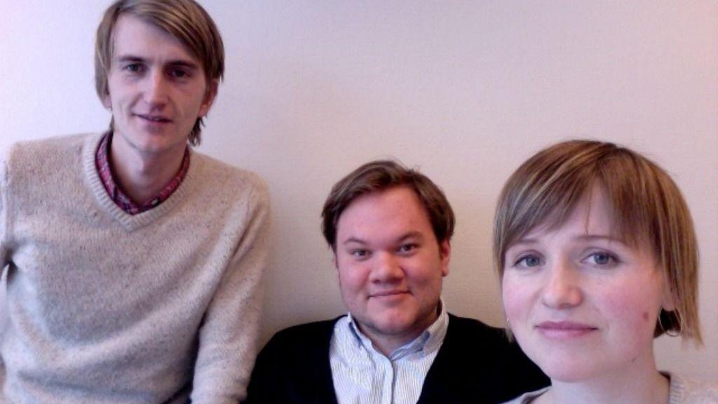 Fra Venstre: Hans Petter Haaland, Simen Eidsvåg, Erle Strøm