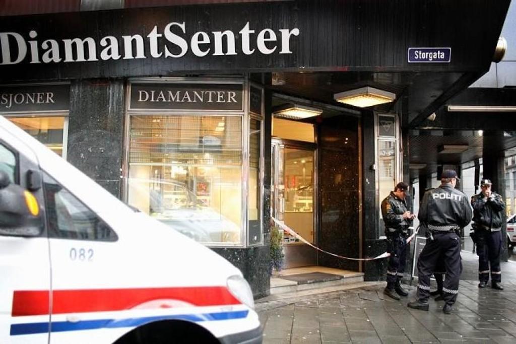 Oslo Diamantsenter ble ranet i november i fjor. Nå er fire menn tiltalt for ranet.