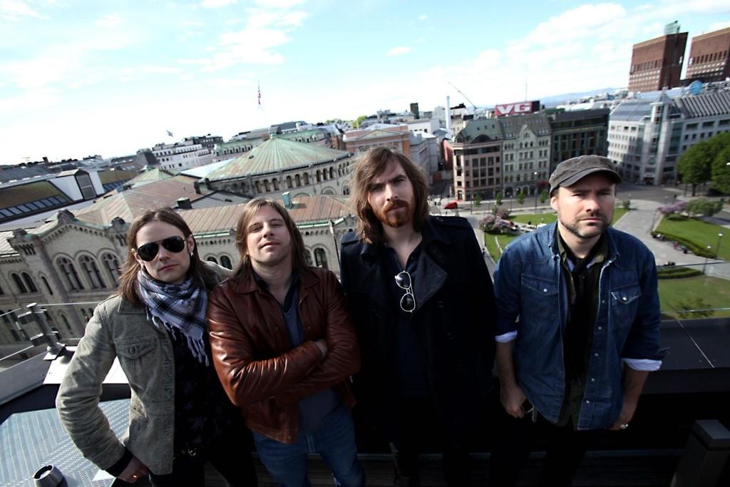 TREDJE ALBUM: El Cuero har sluppet sitt tredje album. F.v. Håvard Takle Ohr (trommer), Tommy Reite (bass), Øyvind Blomstrøm (gitar) og Brynjar Takle Ohr (vokal og gitar).