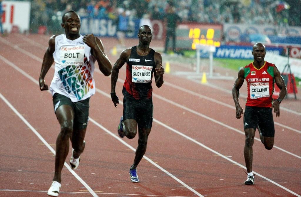 BUL-gutten Jaysuma Saidy Ndure sikret andreplassen på 200-meteren under Golden League-stevnet på Bislett stadion torsdag. Jamaicaneren Usain Bolt var i en klasse for seg.