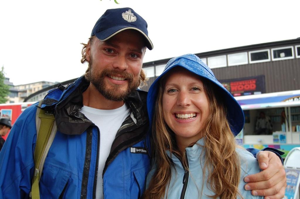 Ivar Jørstad og Mari Svalastog koser seg sammen på Norwegian Wood og gleder seg til å se Eric Clapton.