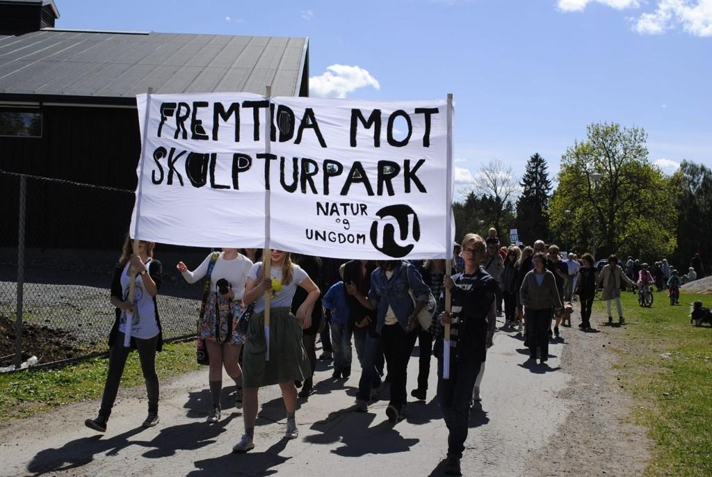 VIL HA FOLKEAVSTEMNING: Miljøpartiet De Grønne vil ha folkeavstemning om skulpturparken.